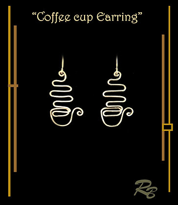 Coffee cup, earrings, coffee gifts, coffe lovers, gift ideas
