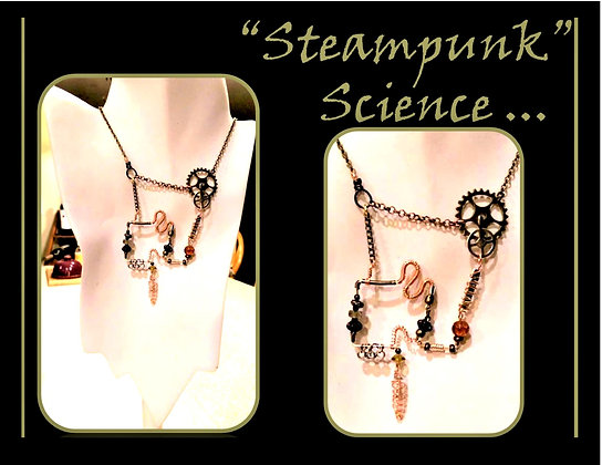 Steampunk Science,steampunk,Steampunk necklace,Post Apocalyptic,Steampunk F