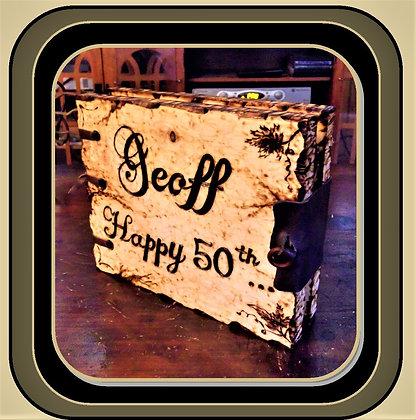 wood book, husband gift, photo album, wood anniversary, gift,