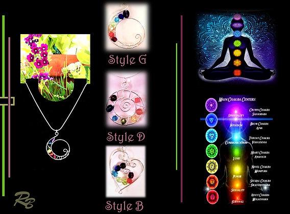 chakras, chakra necklace, jewelry,  ,reiki jewelry, zen, yoga jewelr