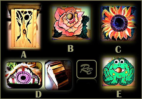 birdhouse, cool, Mother gifts, flower pot, hand painted, hostess gift, garden