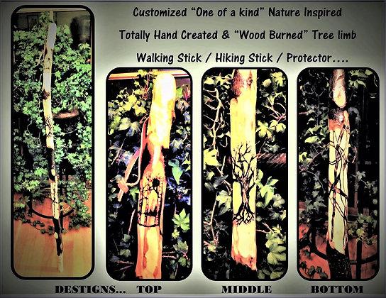 Husband gift,Wife gift,Hikers gift,hiking stick,walking stick,wood anniversary