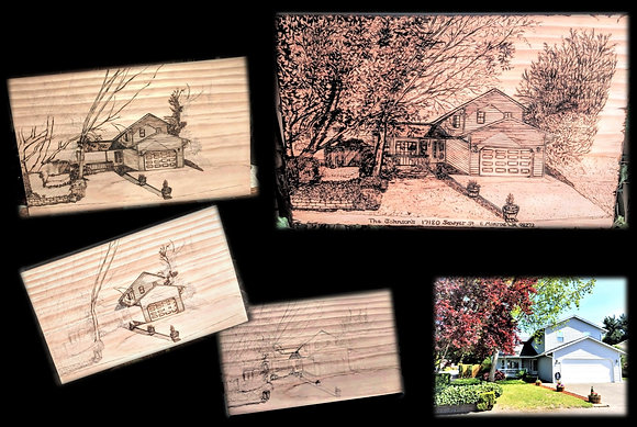 house art ,Personalized,gift,Husband,Father,Mother,5 year,wood,Anniversary