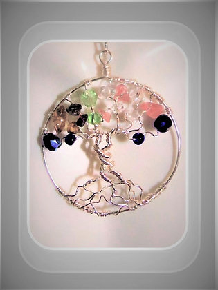 \tree of life, healing, gemstone necklace,family birthstne gems