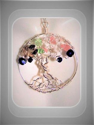 \tree of life, healing, gemstone necklace,family birthstne gems