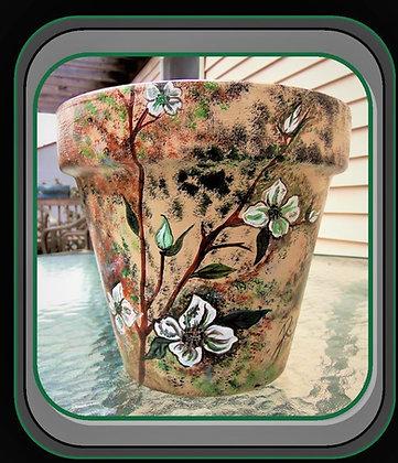Easter gift ideas for Mother, mom gift, flower pot, hand painted, hostess gift,