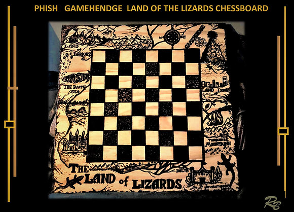 PHISH, land of the lizards, gifts,chess board, Wood Anniversary gift, Husband