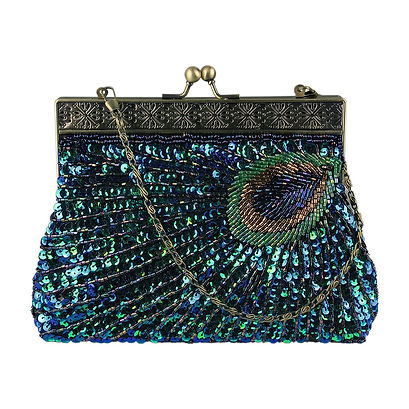 vintage_clutch_teal_peacock_antique_bead