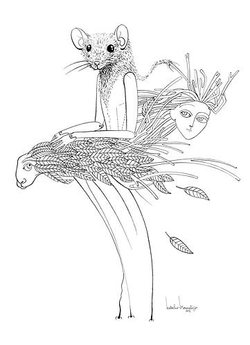 """Mouse Masquerade I"" PRINT"