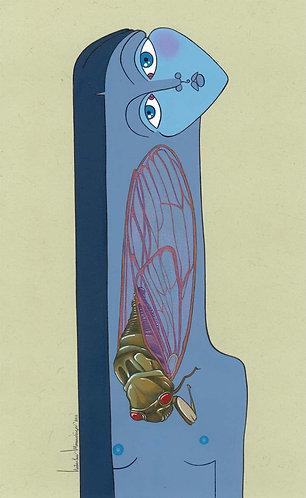 """Cicada in the Night"" PRINT"