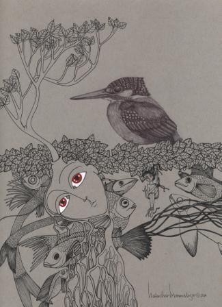 """""""Kingfisher"""" PRINT"""