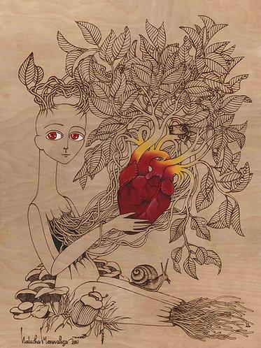 """Growing Heart"" PRINT"