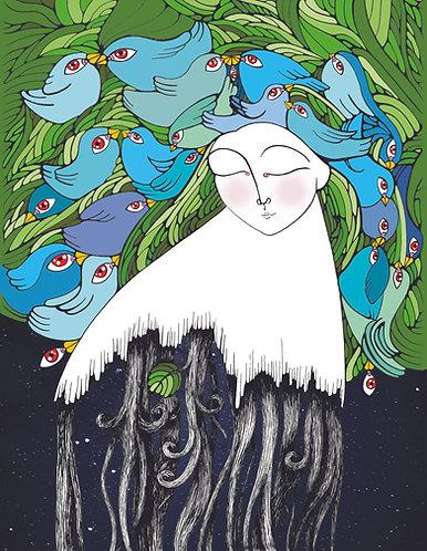 """Nesting in the Treetops II"" PRINT"