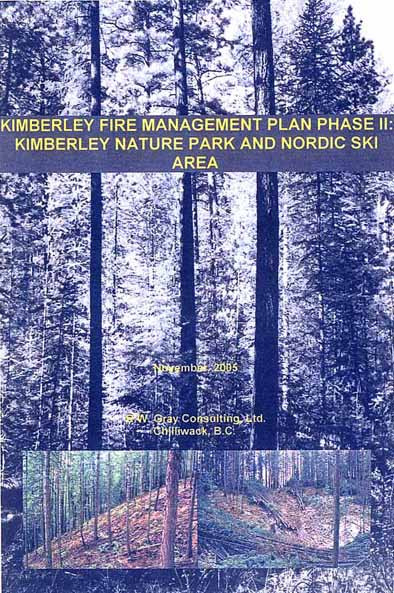 The full version of this 117 page report is available from the City  of Kimberley on a compact disc.