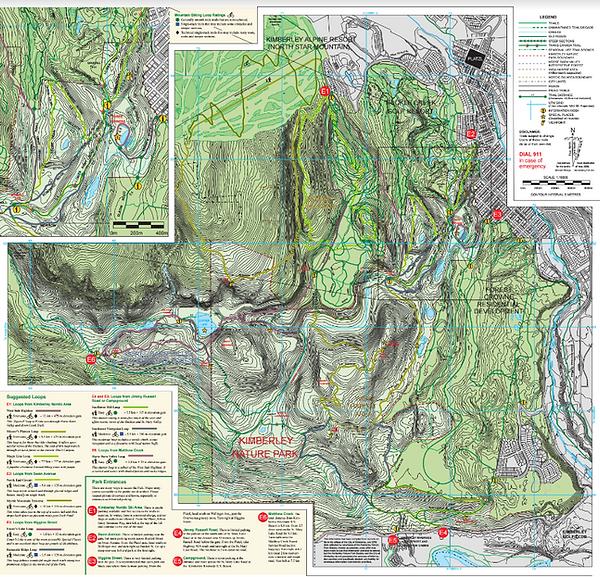 Kimberley Nature Park  Trails Maps  Hikes