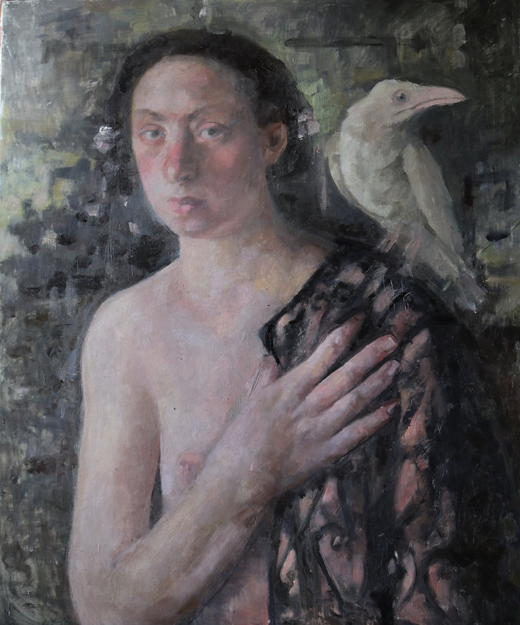 Figure With a White Raven 50-60 2019