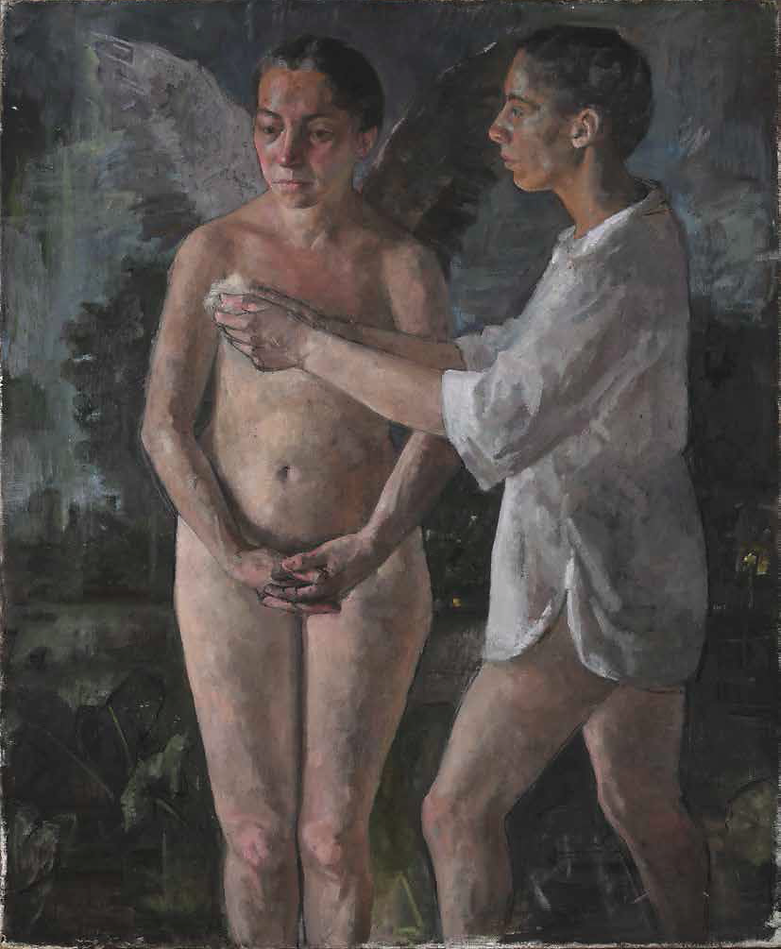 Figure With an Angel 122-100 cm 2019.bmp