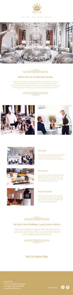 Royal Cafe Website