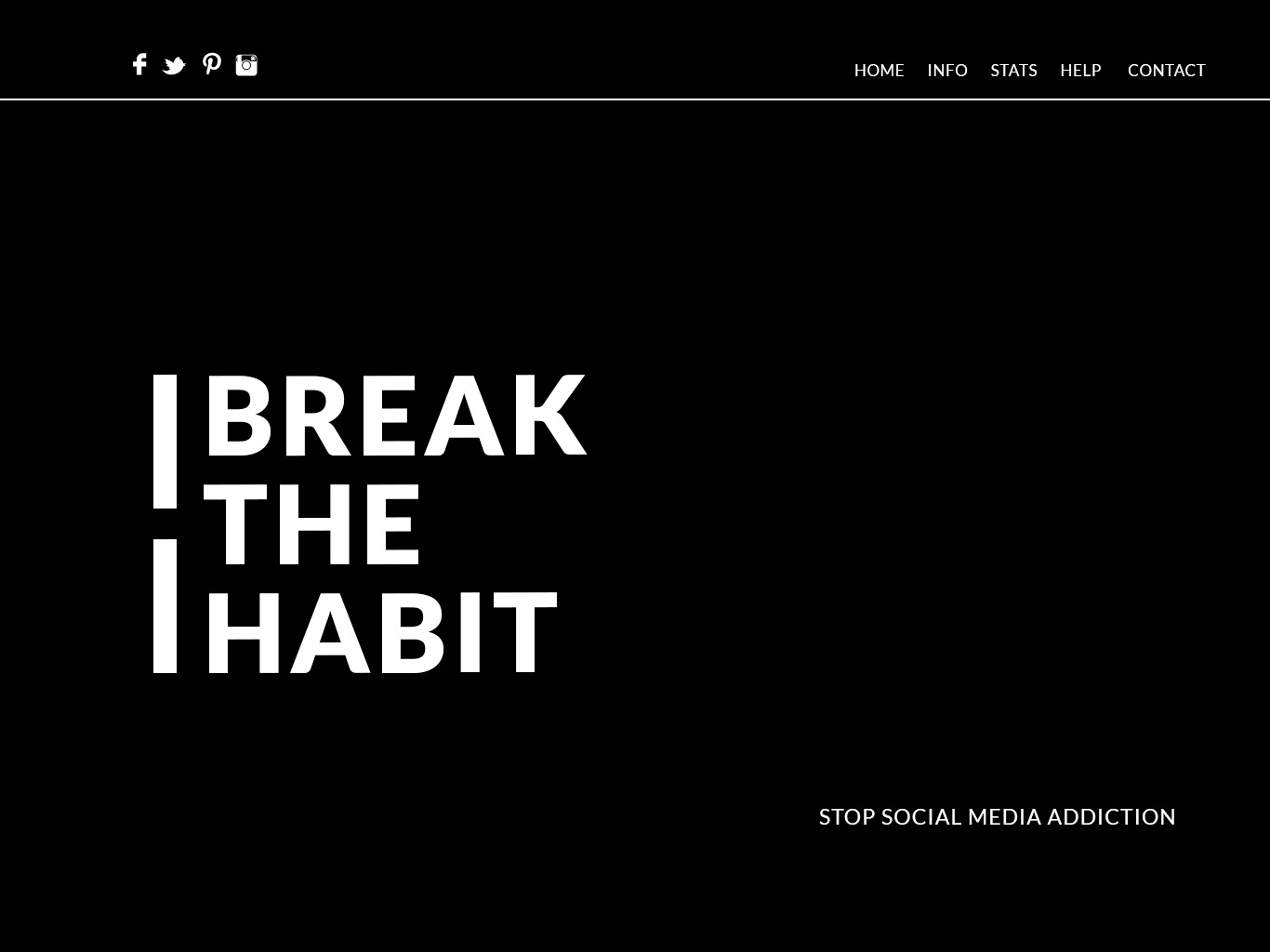 Break The Habit Website