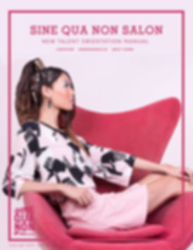 SINE QUA NON SALON NEW TALENT TRAINING M