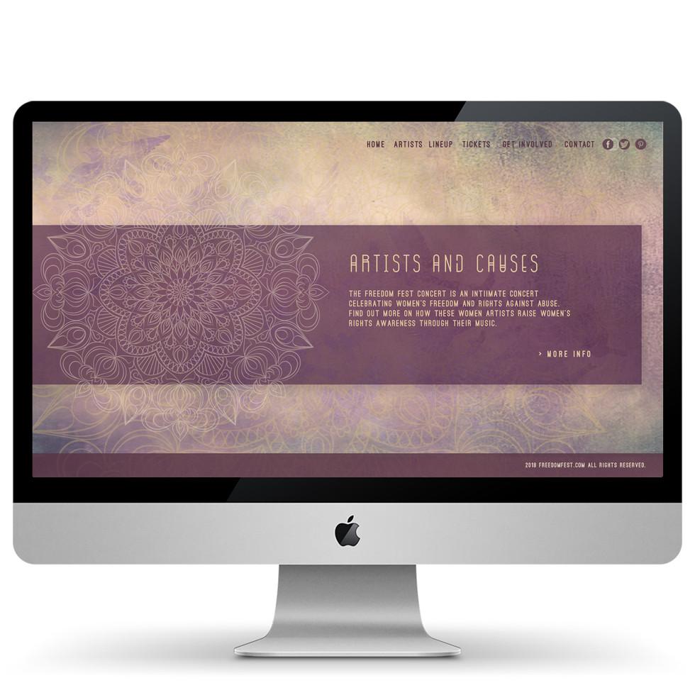 Freedom Fest Website Design