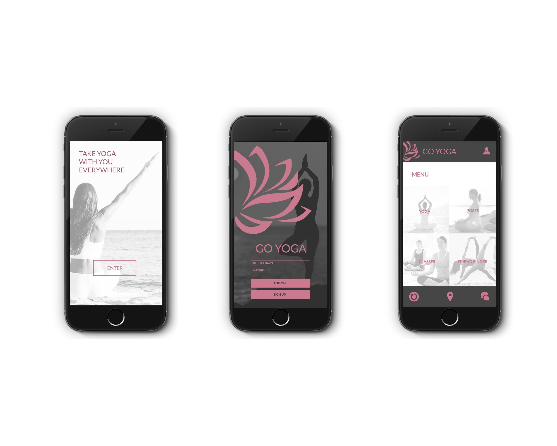 GO YOGA App Design