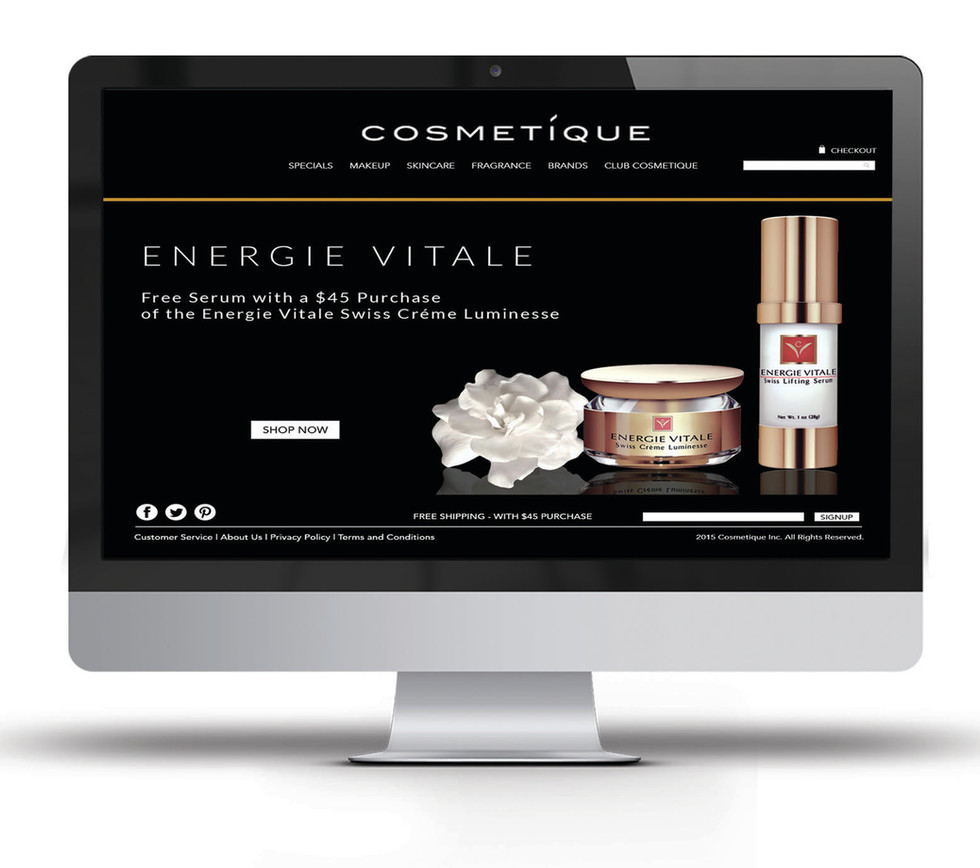 COSMETIQUE INC. WEBSITE