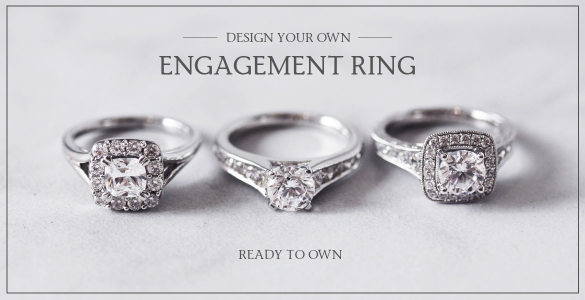 DESIGN YOUR OWN ENGAGEMENT RING BANNER FOR DESIGN SITE