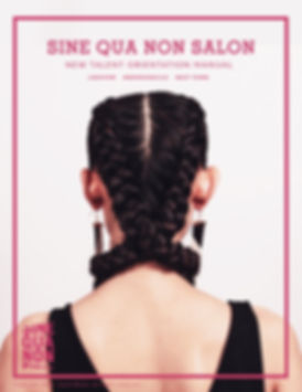 SINE QUA NON SALON STYLING MANUAL COVER
