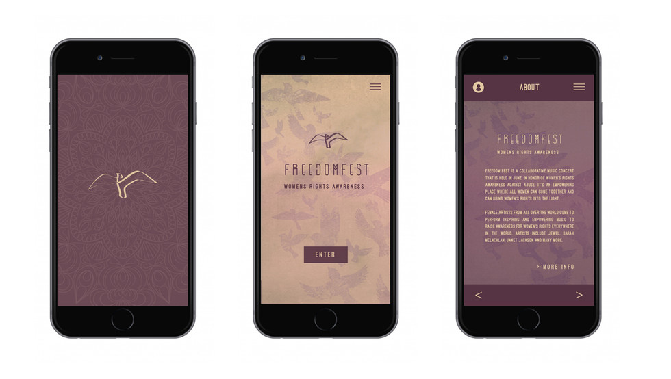 Freedom Fest UI/UX Design