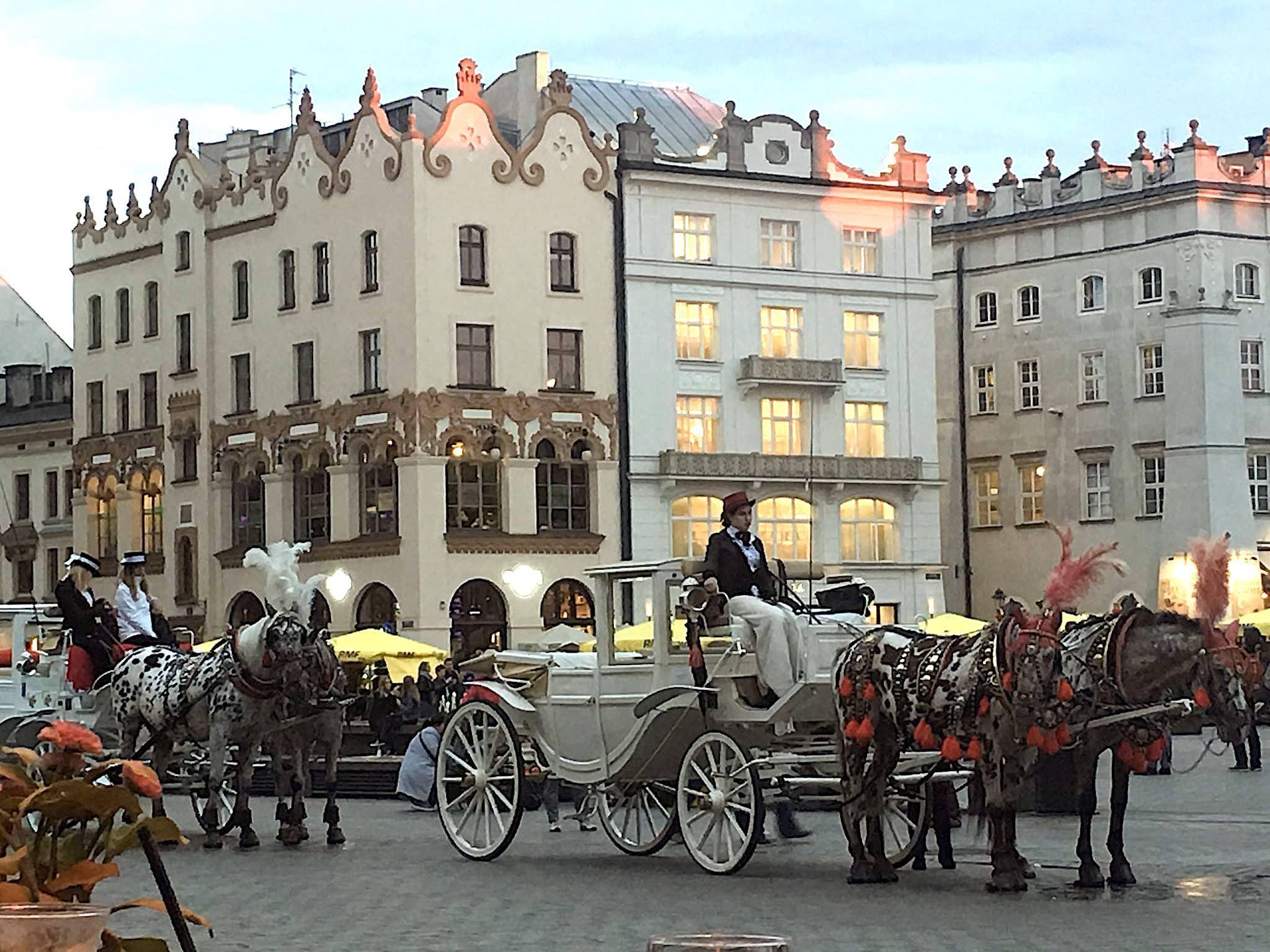 Night in Krakow Square