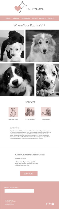 Puppy Love Website