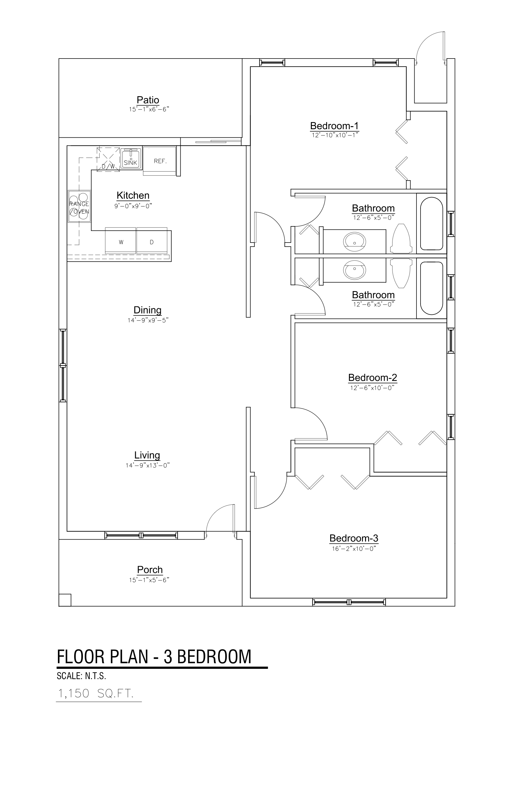 3-BEDROOM FLOOR PLAN