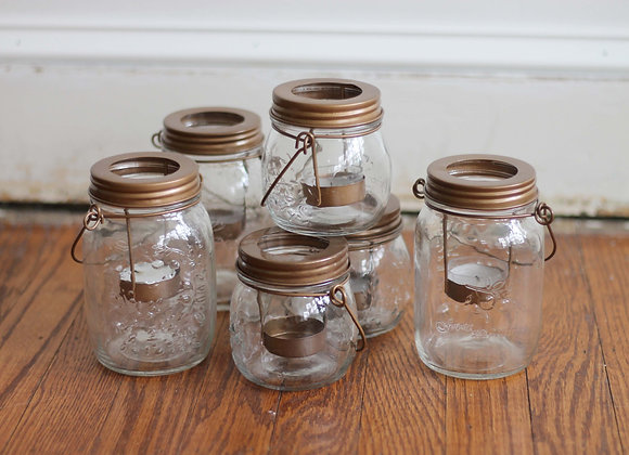 Mason candle holders