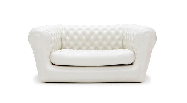 Oppblåsbar chesterfield sofa