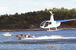 Hopp fra helikopter