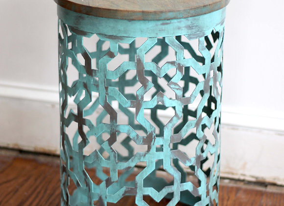 Blue metal table