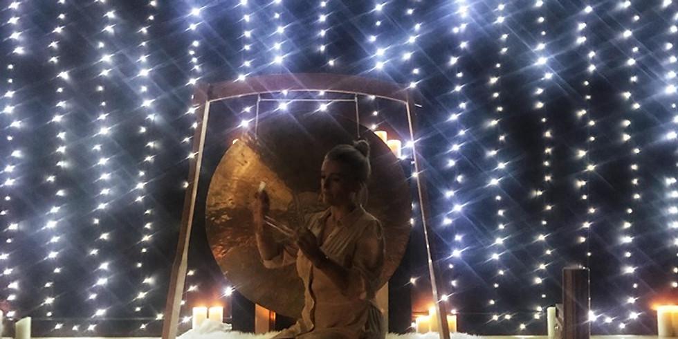 Bain de gong solstice d'hiver.