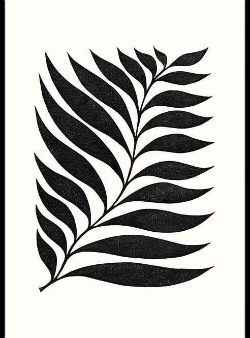 Rectangle Leaf - Original Linocut