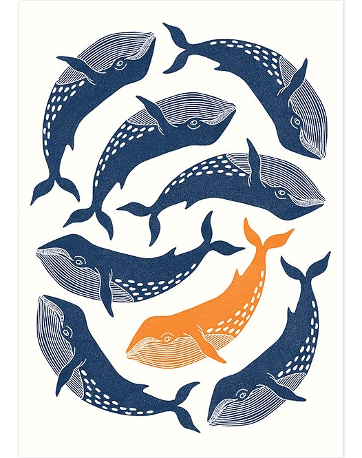 Whale Dance - Art Print