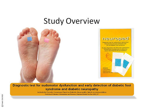 neuropad, Diagnostic Test, Sudomotor Dysfunction, Diabetic Foot, autonomic neuropathy, Diabetic neuropathy