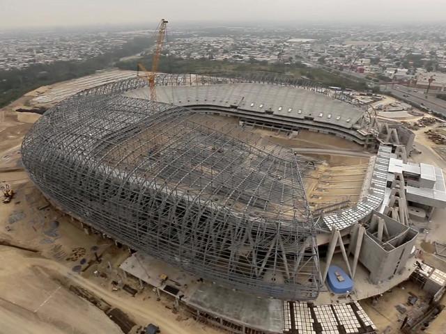 Vídeo de obra arquitectónica estadio BBVA Bancomer