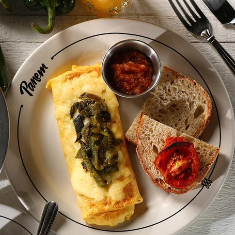Omelette poblano