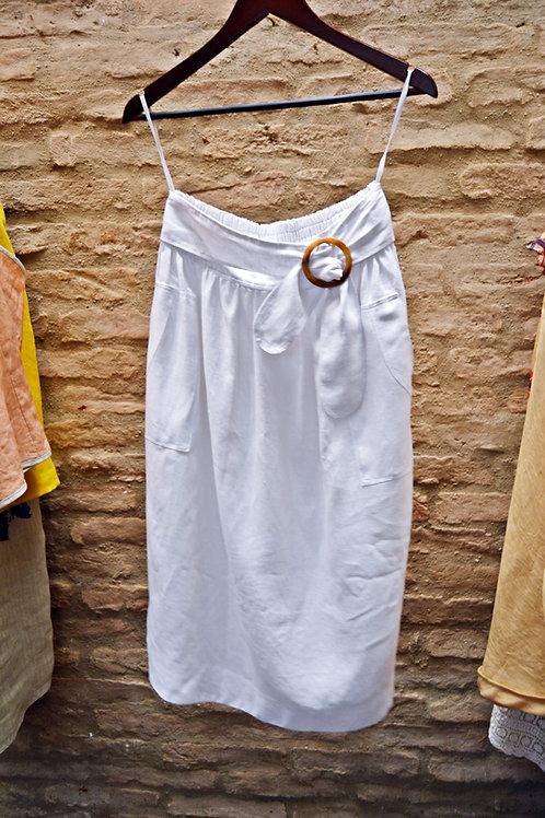 Vestido Linho Cru Branco
