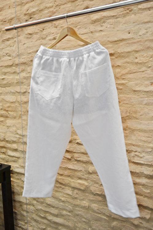 Calça Linho Virgínia Cool Branca
