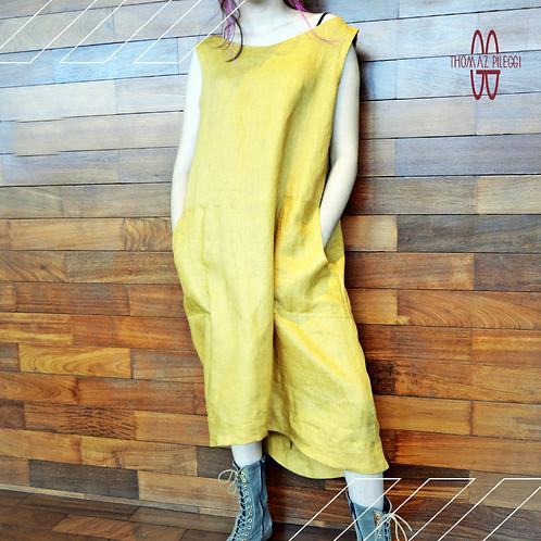 Vestido solto amarelo Virginia Cool