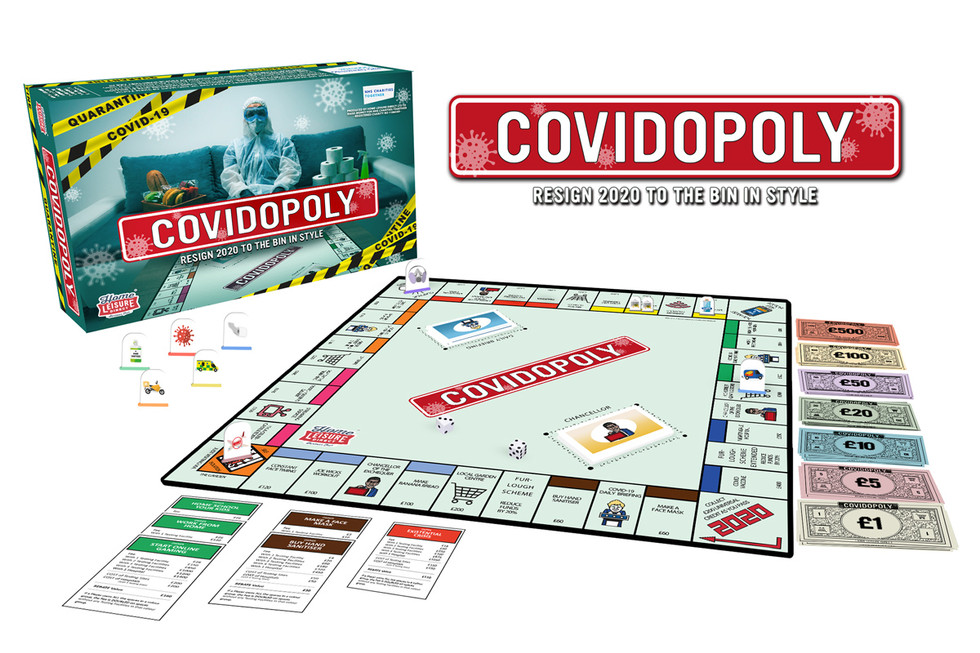 A Mock Up of the Board Game on a White Background