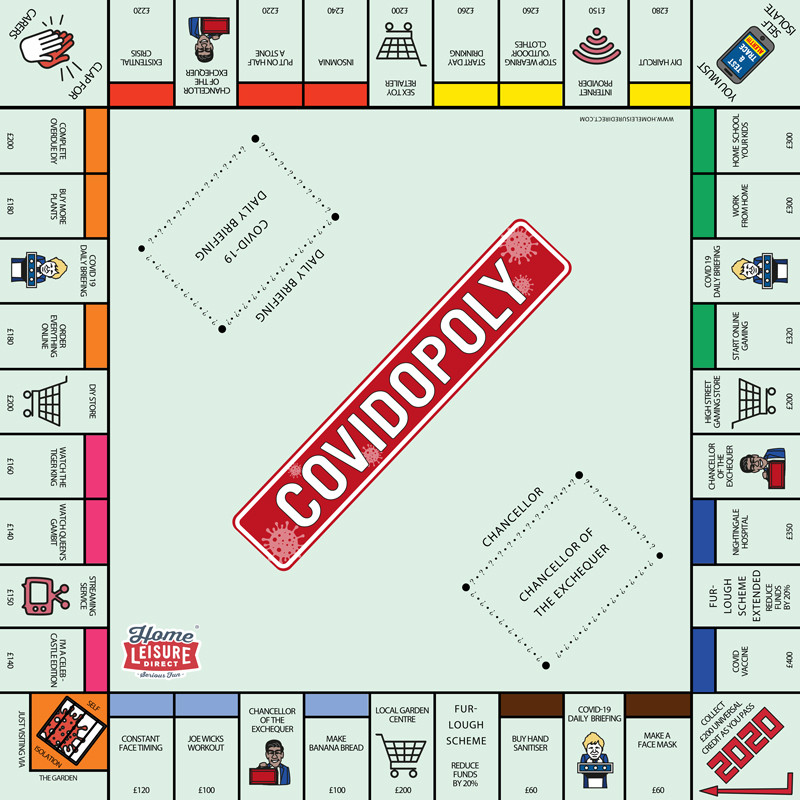 The Full Covidopoly Board
