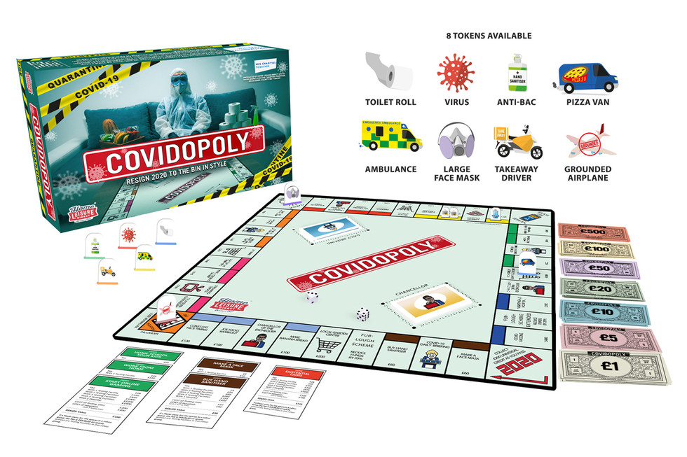 A Mock Up of the Board Game on a White Background with Player Tokens
