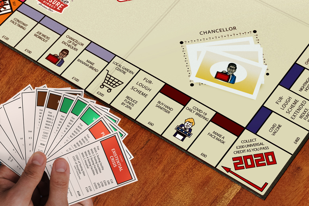 Promotional Shot Three: Close Up on First Line of Board and Player's Title Cards